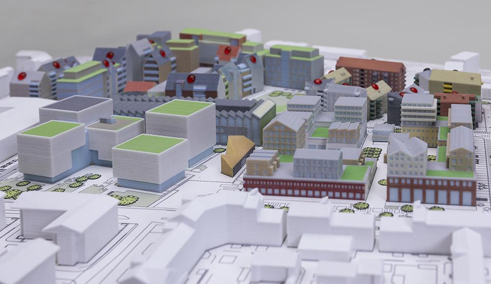 3D-print av stadsdelen Ebbepark