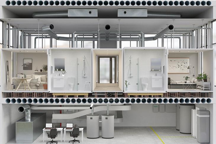 Smart byggnad, projektet Live-in Lab, KTH