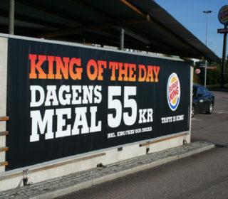 Banderoll för Burger King