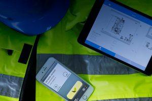 Byggnet i tablet och mobil.