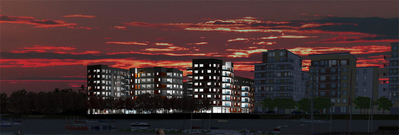 Kvarteret Råseglet på ett av Öster Mälarstrands bästa lägen i Västerås